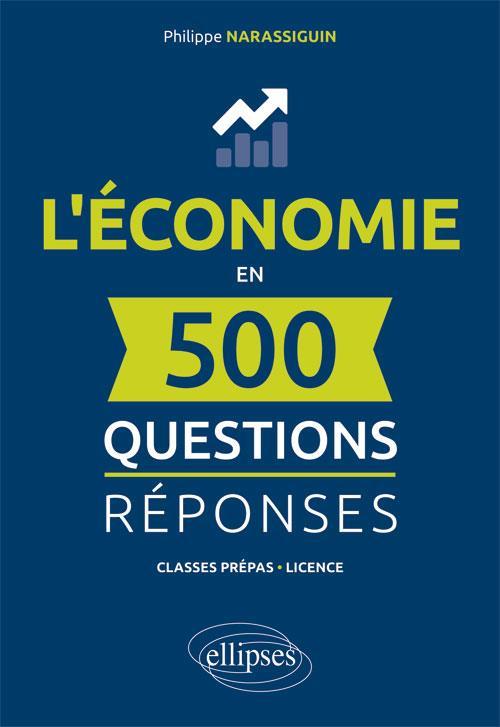 Couverture du lire L'économie en 500 questions réponses